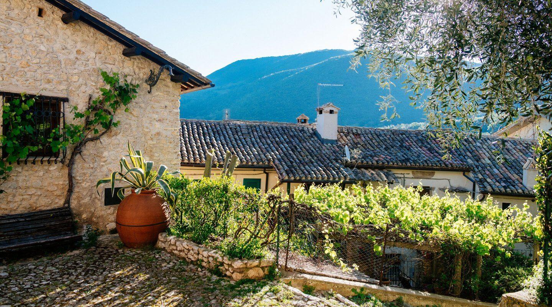 Historisches Dorf Casperia, Italien
