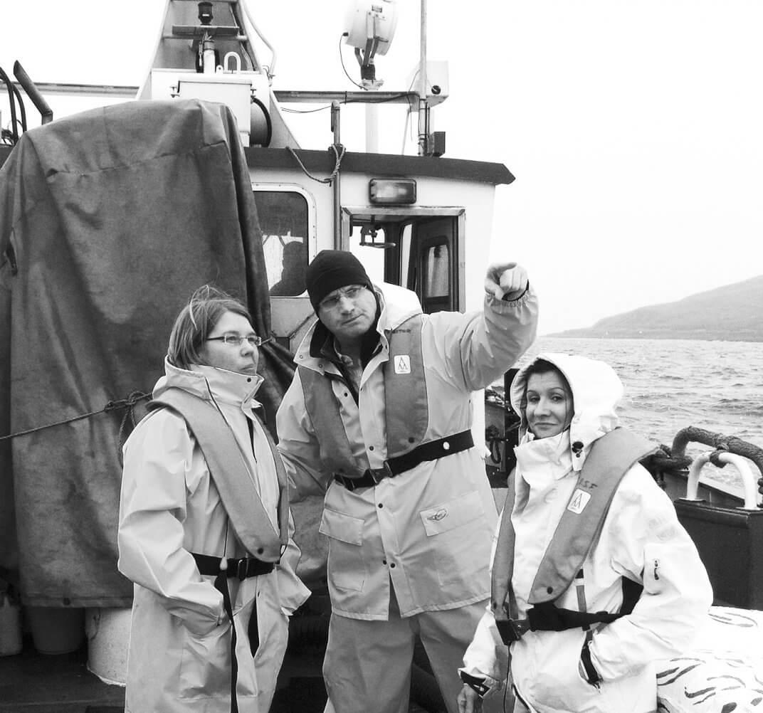 Unsere Crew auf dem Kutter